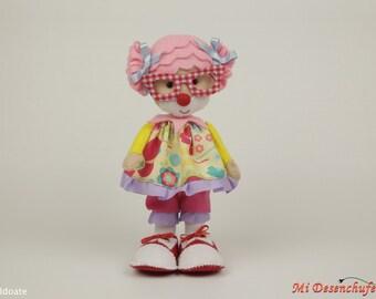 Clown felt - snowman felt circus - wrist felt