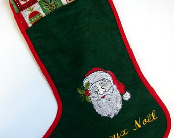 Christmas boots embroidered in rayon