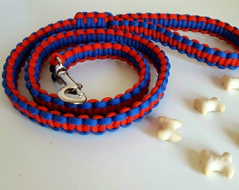 Paracord Dog Lead Two Colours 3ft