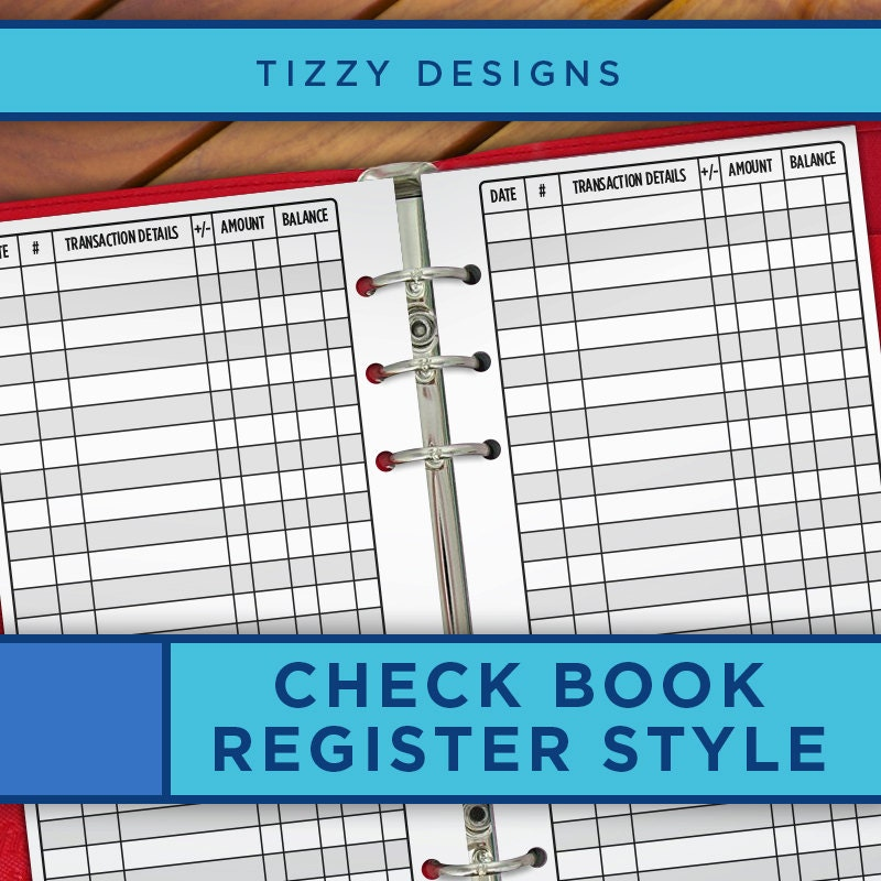 personal planner inserts printable checkbook register bill pay