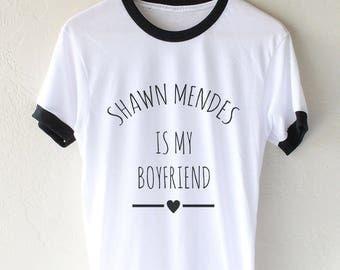 Shawn Mendes is my boyfriend Ringer Unisex tee T-shirt