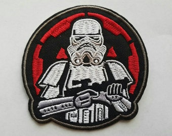 stormtrooper iron on inspired patch, star wars iron on inspired patch