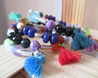 Bracelet style Egyptian, grab happiness in gemstones.