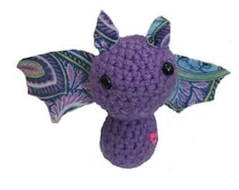 Crochet bat with felt wings