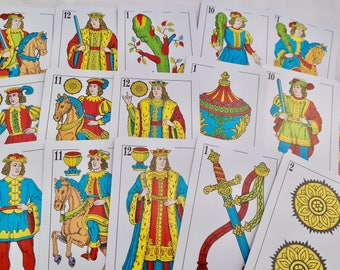 Tarot Spanish, 47 Card Games tarot, original card, characters, horse, card collection, divination astrology big cards