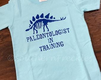 Paleontologist in Training Boy Toddler T Shirt Stegosaurus Dinosaur