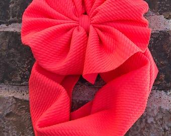 Coral Neon Head Wrap
