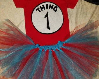 Thing one tutu and shirt