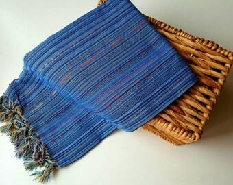 Turkish BATH Towel Peshtemal blue - natural / organic cotton / %100 cotton Beach, Spa, Swim, Pool Towels and Pareo