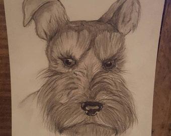 Terrier drawing - unframed