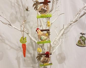 Handmade Easter/spring hanging decorations.