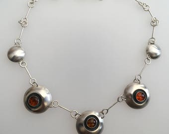 Sterling Silver 'Amber Eyes' necklace