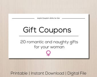 Valentine's day gift, printable relationship game, gift coupons, romantic gift, gift for girlfriend, gift for her, love coupons, sex coupons