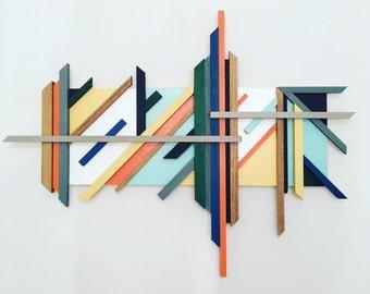 Mid Century Modern inspired wall sculpture