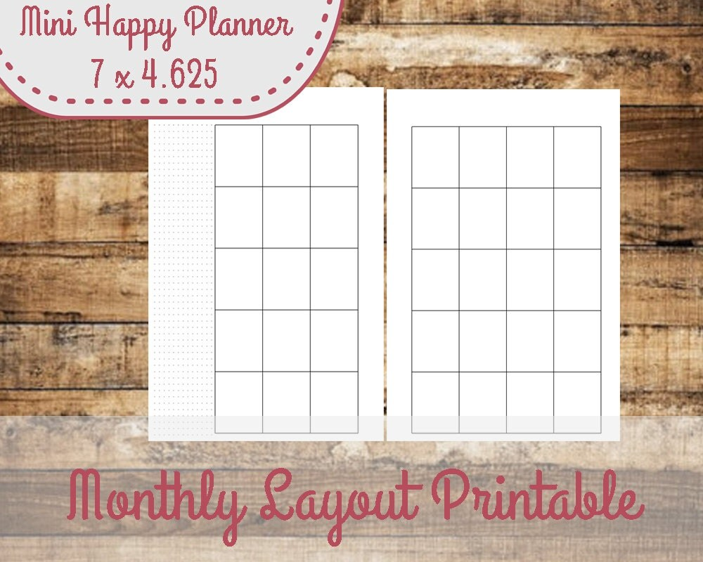 This is an image of Irresistible Free Mini Happy Planner Printable Inserts