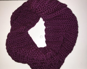 Cowl Infinity Scarf in Grape