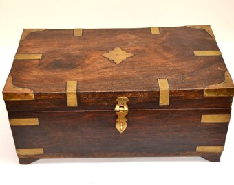 Treasure Chest Box-With Brass Fittings