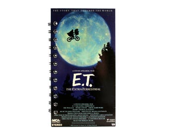 E.T. The Extra- Terrestrial Notebook |  Recycled VHS