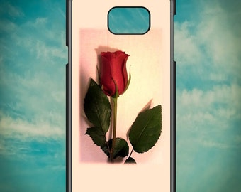Red Rose Portrait for Samsung Galaxy Note 3, Samsung Galaxy Note 4, Samsung Galaxy Note 5, Electronic Phone Case