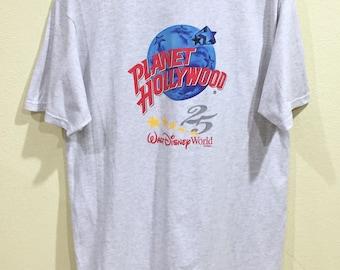 Walt disney world shirts etsy for Planet hollywood t shirt