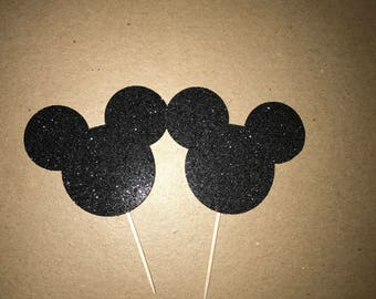 Mickey Mouse/Minnie Mouse cupcake toppers set of 12