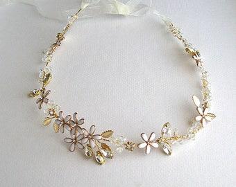 Bridal gold hair band - Hayden