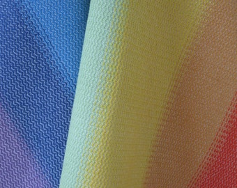 Hand and kitchen towel in organic cotton, hand-woven by the colours of the Rainbow