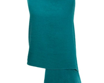 Teal Pashmina / Teal Shawl / Teal Wrap - 100% Cashmere - Handmade in Nepal - Pashminas and Wraps