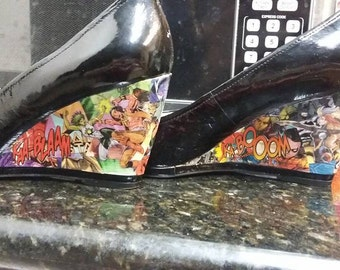 Women's Custom Comic Book Shoes