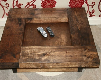 Oak Finished Rustic Coffee Table