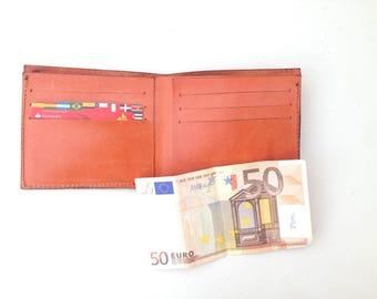 Leather wallet. Leather wallet handmade leather wallet brown leather wallet. Gift for men