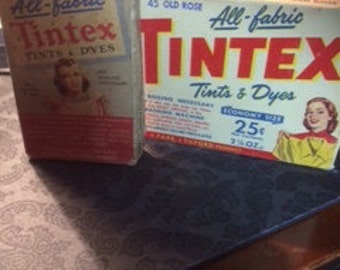 Tintex Tints and Dyes-2 boxes