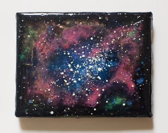 Mini Canvas Glow-in-the-Dark Nebula Painting