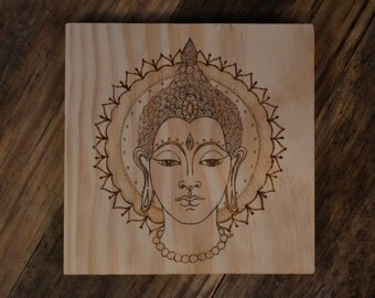 Buddha: Woodburned Wall Décor