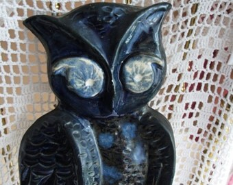 Vintage owls artifact / Atifact / handmade terrace collectors collections of owls, 1970. single owl handmade to hang on the wall