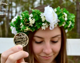 "The ""Irish Eyes"" floral halo crown //St Patrick's Day flower crown, green wedding, st paddy's  flower crown, festive crown, festive tiara"