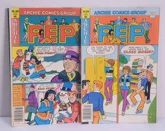"Two Archie Series ""Pep"" Comic Books 1979 & 1980"