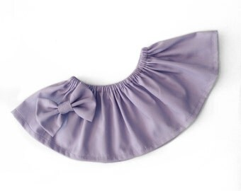 Lavender Collar and Bow clip