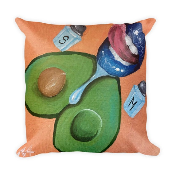 An Avacado a Day Erotic Pillow | Bed Pillow | Kink | Playful Bedding | Naughty GIft