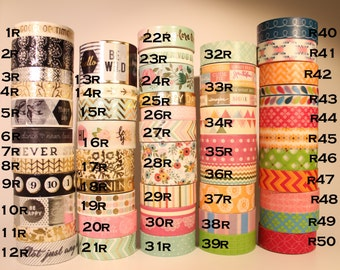 Pick your Sample! Recollections Washi Tape Samples (24 inches)