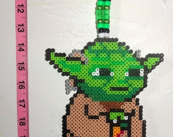 Yoda Rave Kandi Necklace
