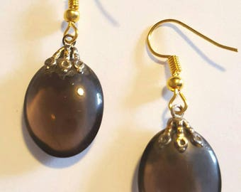 Old Fashioned Chocolate Colored Earrings