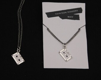 Thirteen Reasons Why Inspired Cassette Tape Necklace