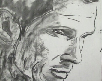 charcoal on paper authentic original realism
