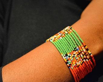 Multicoloured Maasai Bracelets