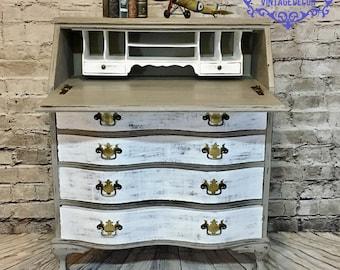 SOLD! Gorgeous Painted Secretary Desk
