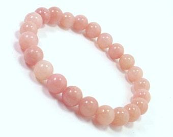 Jadeite 8 mm beads Bracelet,Natural Gemstone Bracelet,Unisex Women Men Bracelet