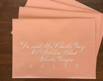 Wedding Envelopes Calligraphy, Wedding Envelope Addressing, Wedding Calligraphy, Copperplate