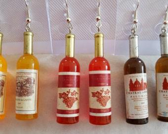 Wine Bottle Earrings &/or Necklace Pendant