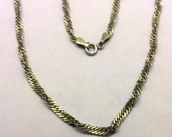 sterling silver rope chain #64